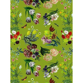 Sample, Scalamandre Nicolette Mayer for Scalamandre Flora & Fauna, Fontana Wallpaper For Sale