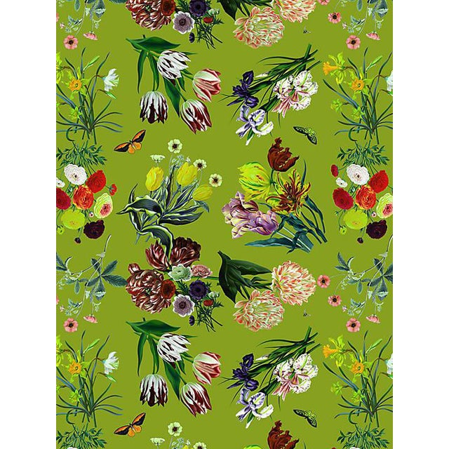 Sample, Scalamandre Nicolette Mayer for Scalamandre Flora & Fauna, Fontana Wallpaper For Sale