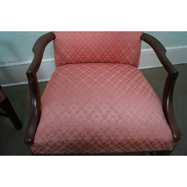 Antique 1930 Chippendale Armchairs - A Pair - Image 10 of 10