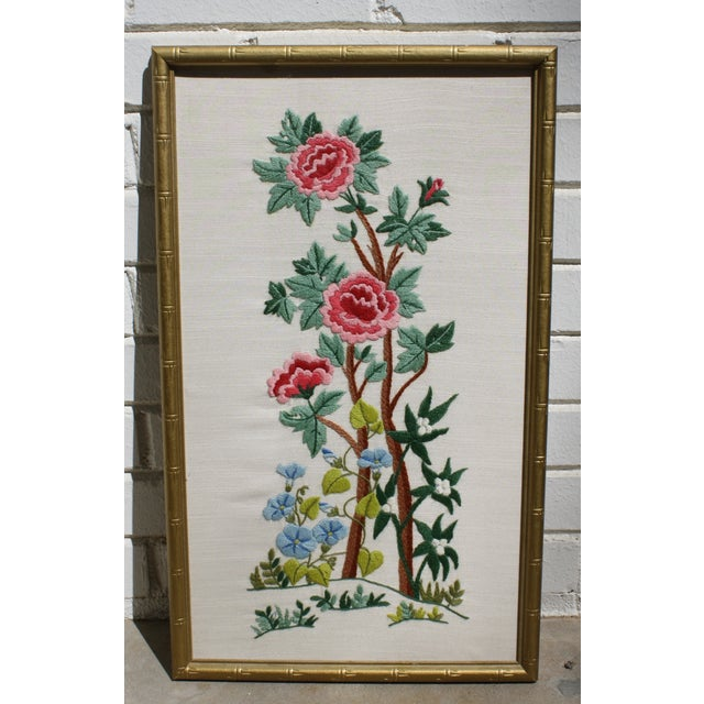 Vintage Needlepoint Pictures - Pair - Image 5 of 7