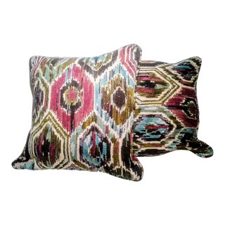 Designer Fabric Pillow Covers - a Pair For Sale