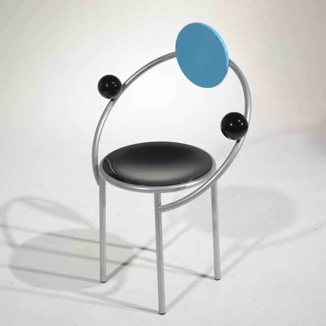 Black Michele De Lucchi First Chair for Memphis, Milano For Sale - Image 8 of 13