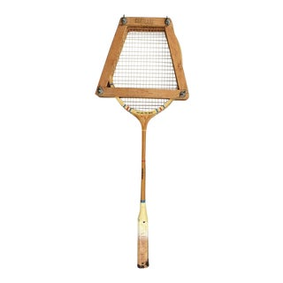 1960s Custom Built Tennis Rackets in Wood Press Holder by Cortland - a Pair For Sale