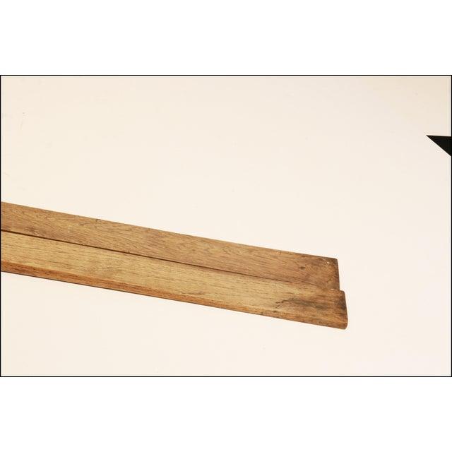 Vintage Rustic Wood Snow Skis - Pair - Image 10 of 11