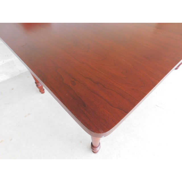 Cherry Wood Tom Seely Solid Cherry Country Style Dining Table For Sale - Image 7 of 11