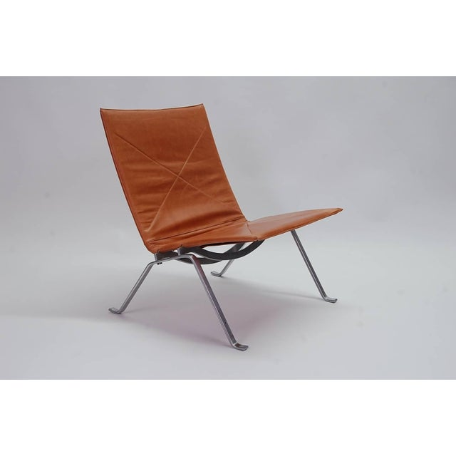 Poul Kjaerholm PK22 lounge chair, circa 1960, produced by E.Kold Christensen of Denmark. Fully signed with the E. Kold...