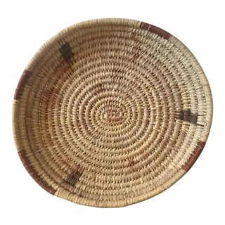 Vintage Native American Woven Basket Tray Papago Tribal Charger