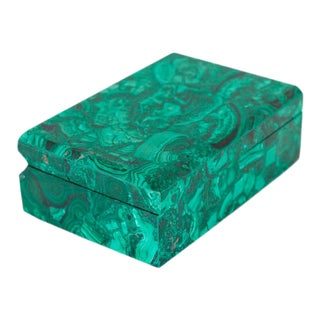 1970s Malachite Hinged Boxes For Sale