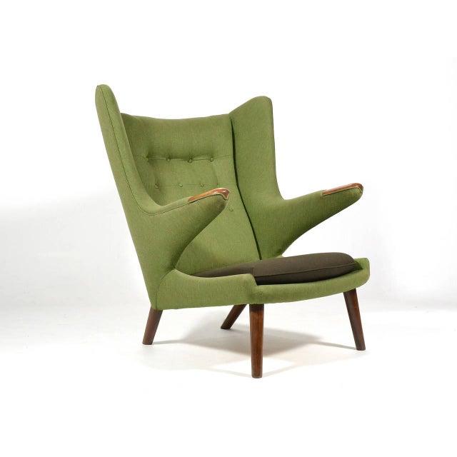 Danish Modern Hans Wegner Papa Bear Chair For Sale - Image 3 of 11