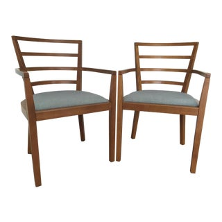 1990s Mid-Century Modern Raul De Armas for Knoll Arm Chairs - a Pair