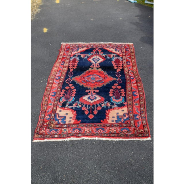 Vintage Mid-Century Hand-Knotted Persian Rug - 4′8″ × 9′11″ For Sale - Image 13 of 13