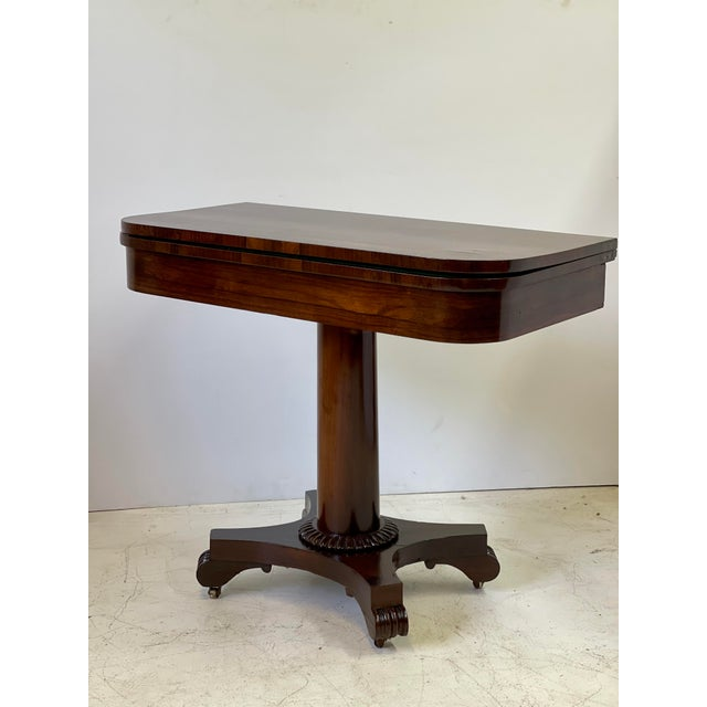 19th Century 19th Century English Regency Rosewood Games Table For Sale - Image 5 of 13