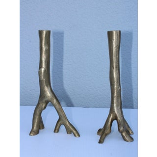 Early Michael Aram Forged Brass Candlesticks Preview