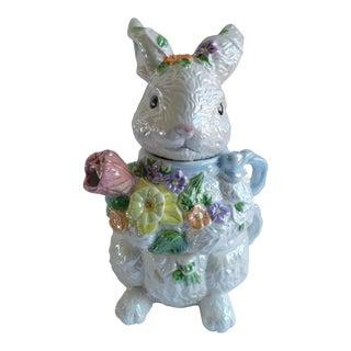 Vintage Iridescent Porcelain Bunny Teapot