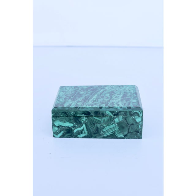 Mid-Century Modern Malachite Box For Sale - Image 3 of 6
