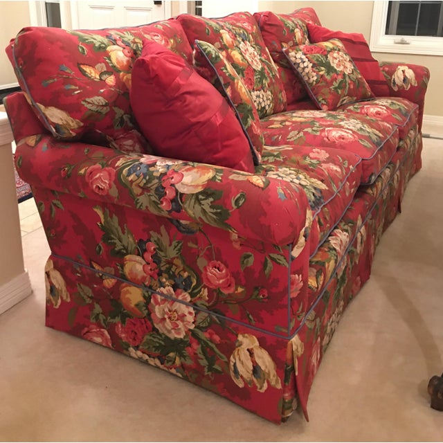 Textile Henredon Sofa For Sale - Image 7 of 13
