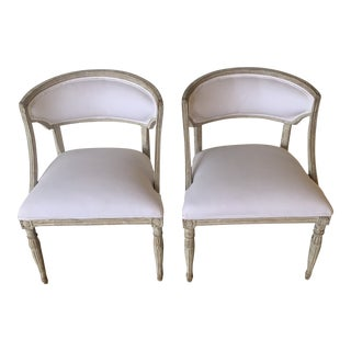 18th Century Vintage Gustavian Chairs- A Pair For Sale