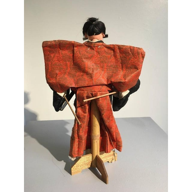 Early 20th Century Japanese Bunraku Samurai Puppet, Meiji Period For Sale - Image 5 of 10