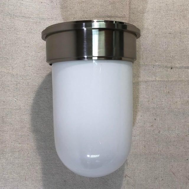 Silver Hudson Valley Lighting Geneva Flush Mount For Sale - Image 8 of 9