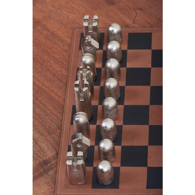 Black Modernist Chess Set #5606 by Carl Auböck For Sale - Image 8 of 11
