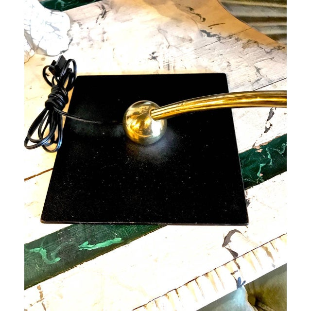 Mid-Century Modern Dazor Black Flying Saucer Sight Light Desk Lamp For Sale - Image 3 of 5