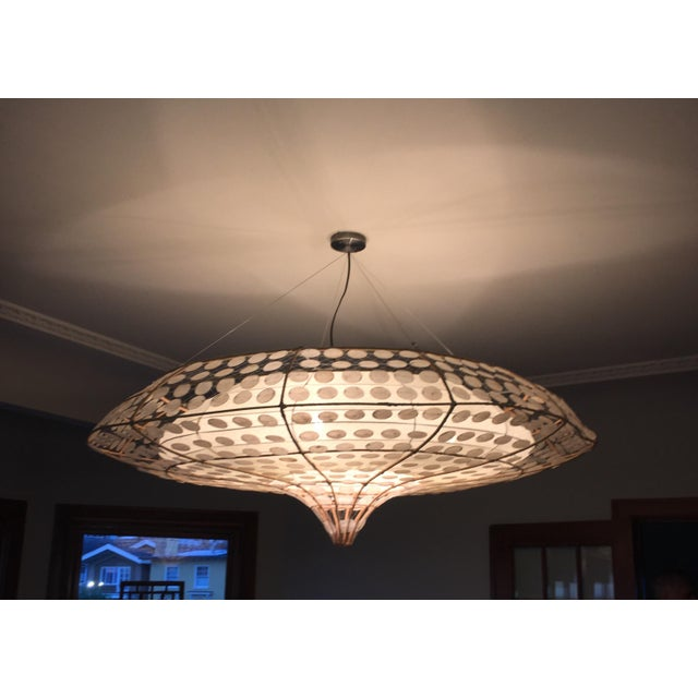 White Balinese-Style Chandelier For Sale - Image 8 of 8