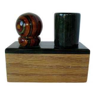Carved Wood Bottle Stoppers, 3 Pieces For Sale