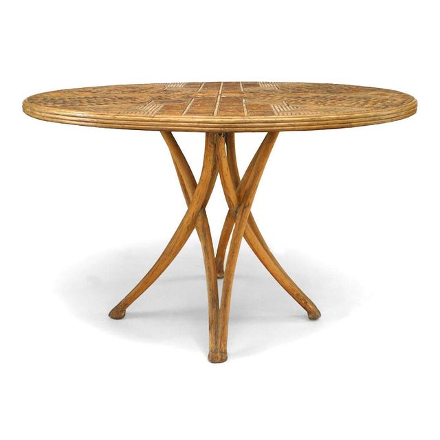 Rustic Rustic Continental Style Stripped Dining Table For Sale - Image 3 of 3