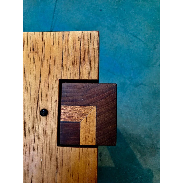 Mission Rob Edley Welborn Designed Prototype Bench or Stool For Sale - Image 3 of 9