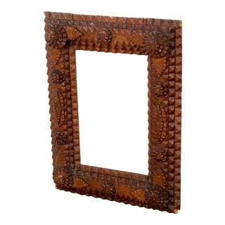 Danish Tramp Art Frame For Sale