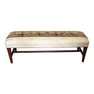 Chinoserie Appointed English Long Bench For Sale
