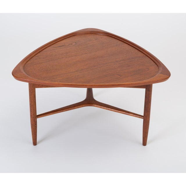 "Scandinavian Modern Teak ""Guitar Pick"" Side Table For Sale - Image 4 of 13"