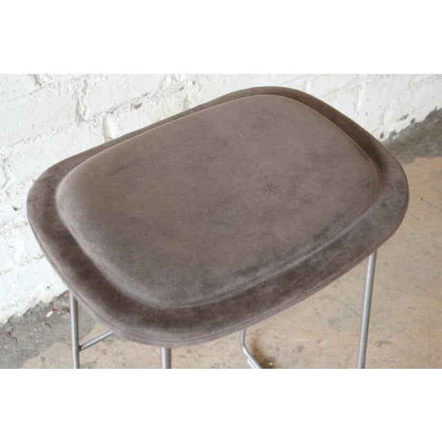 Textile Italian Bar Stools by Cappellini, a Pair For Sale - Image 7 of 9