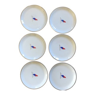 Vintage Syracuse China Yacht Club Plates - Set of 6 For Sale