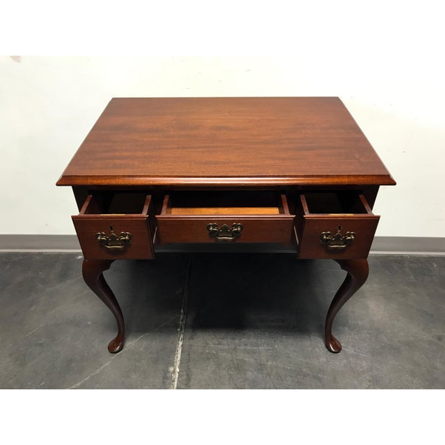 BIGGS Mahogany Queen Anne Low Boy Dresser Chest - Image 4 of 11