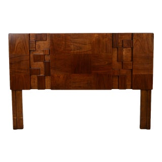 Brutalist Lane Walnut Queen Size Headboard For Sale