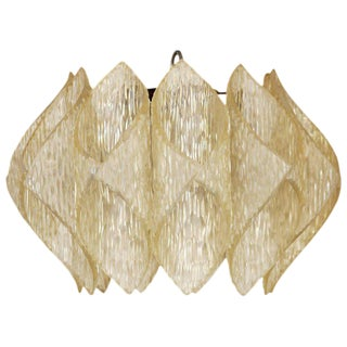 "Mid Century Folded Lucite ""Origami"" Ceiling Pendant Light For Sale"