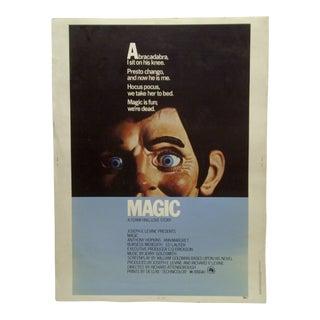 "Vintage 1978 ""Magic"" Anthony Hopkins & Ann Margaret ""Terrifying Love Story"" Movie Poster"