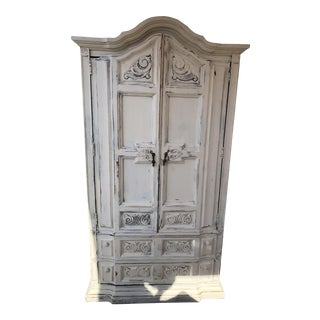 Shabby French Country Tall Armoire For Sale