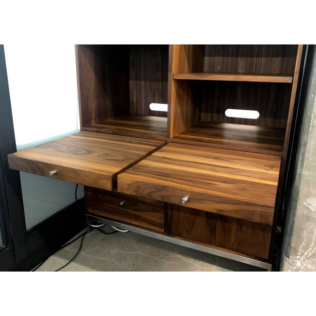 Mid-Century Modern Mid-Century Modern Room and Board Solid Walnut Cabinet For Sale - Image 3 of 8