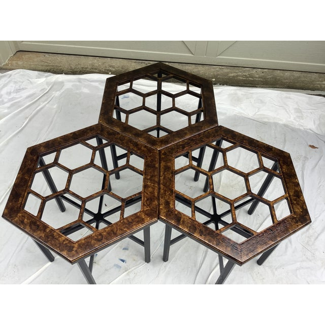Widdicomb Honeycomb Tables, Set of 3 For Sale - Image 11 of 13
