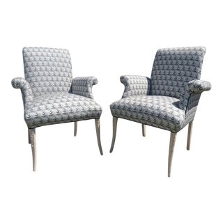 1950s Vintage Grosfeld House Hollywood Regency Chairs - A Pair