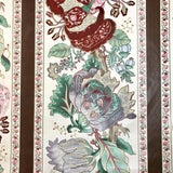 Image of Boho Chic Rose Cumming La Portugaise Cotton Chintz Designer Fabric by the Yard For Sale