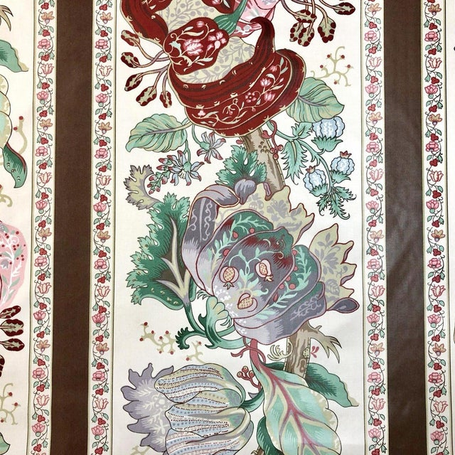 Boho Chic Rose Cumming La Portugaise Cotton Chintz Designer Fabric by the Yard For Sale