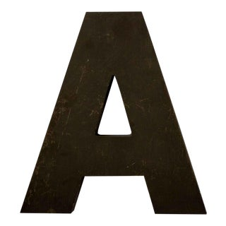 Industrial Mid Century Metal Letter A For Sale