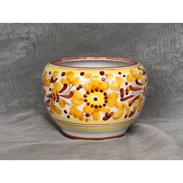 Italian Vintage Italian Ceramic Pottery Indoor Planter For Sale - Image 3 of 13