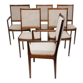 Danish Modern Rosewood Chairs by Bernhard Pedersen - Set of 6 For Sale