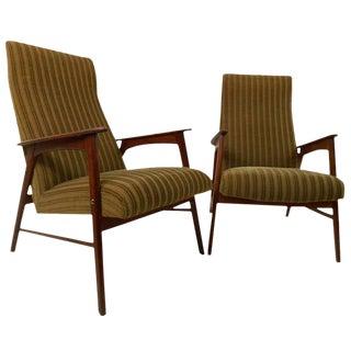 Scandinavian Modern Highback Armchairs - a Pair For Sale