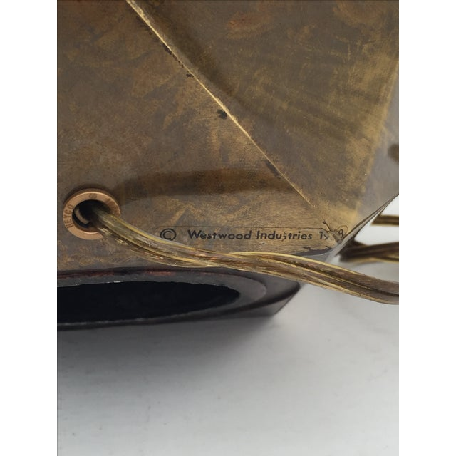 Bronzed Geometrical Lamp by Westwood - Image 6 of 9