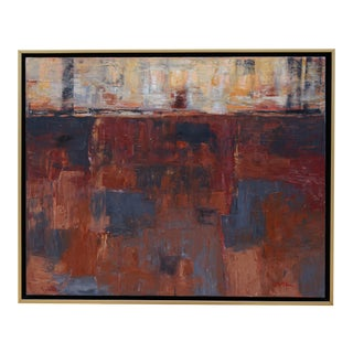 """Laurie MacMillan """"Sundowner"""" Abstract Painting For Sale"""